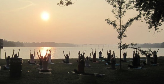 Free Sunset Yoga on the Severn – with a surprise!