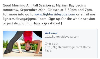 Lighter Side Yoga with Joan Livingston starting new session at Annapolis Towne Center