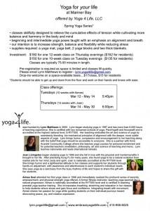 Yoga4Life Spring Series