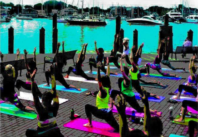 Annapolis Power Yoga offering free yoga class at City Dock this AM